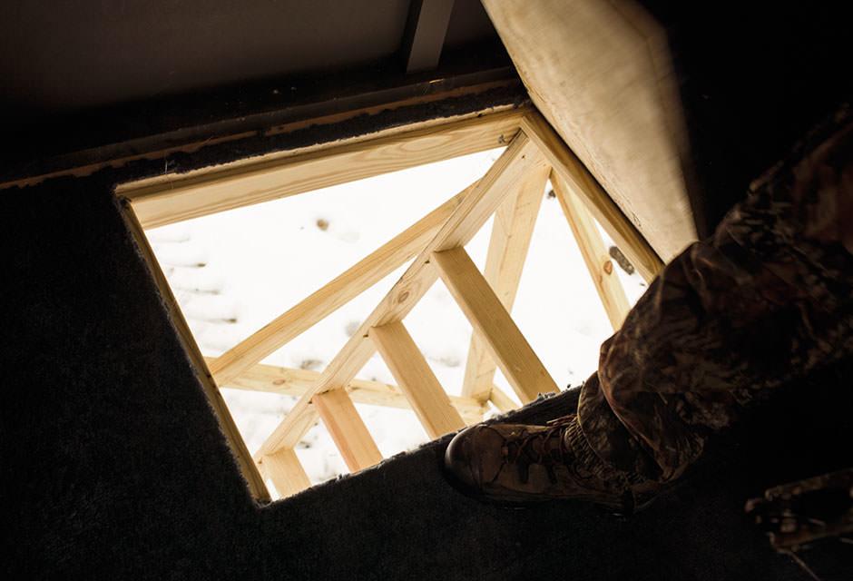 Trap Door Entry Oakridge Hunting Blinds