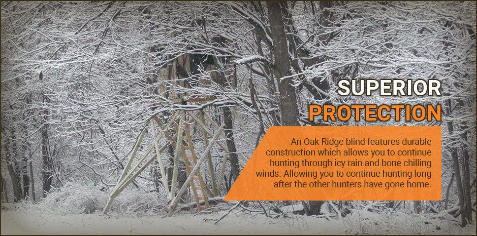 Oak Ridge Hunting Blinds | Elevated and Ground Box Blinds